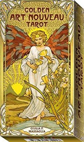 Massaglia, G: Golden Art Nouveau Tarot (Tarot Cards)