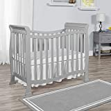 Dream On Me Violet Mini Crib in Pebble Grey
