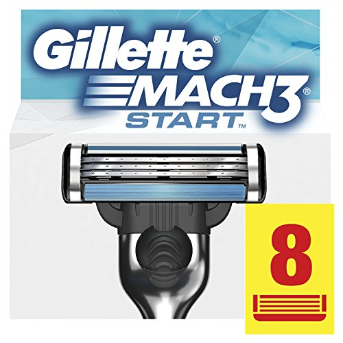 Gillette Mach3 Start Lame per Rasoio da Uomo, 8 Pezzi