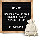 Changeable Felt Letter Board + Eisel Stand + Letters, Numbers (12' x 12')