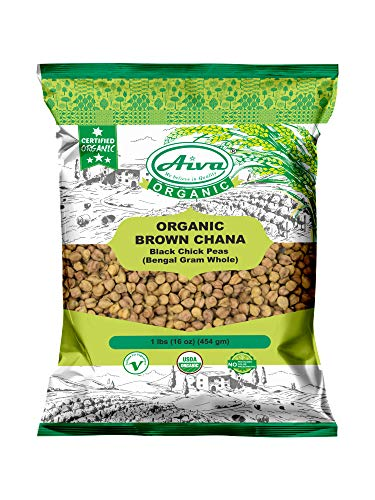 AIVA - ORGANIC CHICKPEAS ( BROWN/KALA CHANA ) USDA ORGANIC
