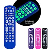 GE Backlit Universal Remote Control for Samsung, Vizio, LG, Sony, Sharp, Roku, Apple TV, RCA, Panasonic, Smart TV, Streaming Players, Blu-Ray, DVD, 4-Device, Blue, 45764