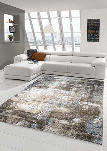 Traum Tappeto Designer zona Tappeto moderno ottica muro di pietra tappeto stile barocco a Marrone Beige Grigio Heather Crema Gre 160x230 cm