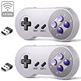 2.4 GHz Wireless USB SNES Controller for Super Classic Games, iNNEXT Retro USB PC Controller Compatible for Windows PC MAC Linux Genesis Raspberry Pi Retropie Emulator [Plug & Play] [Rechargeable]