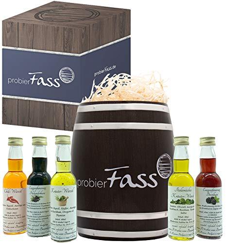 Essig-Öl Geschenk-Set 'Frisches vom Bauernhof' natürlich und handgefertigt. (5x40ml Flaschen) im...