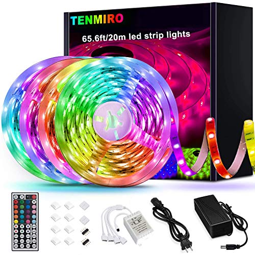Tenmiro 65.6ft Led Strip Lights, Ultra Long RGB 5050 Color...