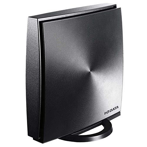 I-O DATA WiFi 無線LAN ルーター ac1200 867+300Mbps IPv6対応 デュアルバンド 3階建/4LDK向け チャコール...