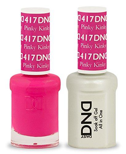 DND Soak Off Gel Polish Dual Matching Color Set 417, Pinky Kinky