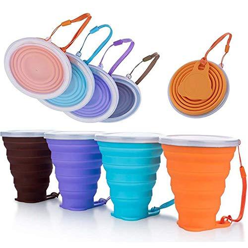 GazyyShop-4 Pièces Tasse de Voyage Pliable en Silicone, tasse ,Tasse de...