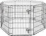 Amazon Basics Foldable Metal Pet Dog Exercise Fence Pen With Gate