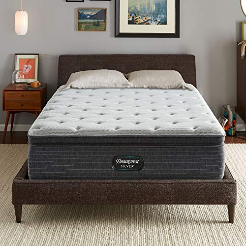 Beautyrest Silver BRS900 15 inch Plush Pillow Top Mattress, Queen, Mattress Only