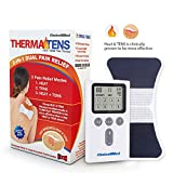 CHOICEMMED Heated TENS Unit - Rechargable Heated Portable Muscle Stimulator Machine - EMS Electrotherapy Muscle Stimulator - 1 Warming Electrode Pad - Approved Electronic Pulse Stimulator