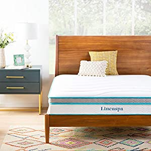 10 inch hybrid combines the traditional support of an innerspring mattress with the plush comfort of hypallergenic memory foam for a medium feel A thick layer of memory foam conforms to your curves to help eliminate pressure points and increase comfo...