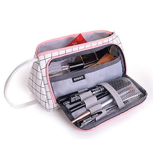 Astuccio Portamatite Grande Capacit, un Resistente Astuccio Multifunzione, un Astuccio Impermeabile con una Cerniera e una Custodia Cosmetica, Utilizzato in Uffici e Scuole (21 * 11 * 8 cm)