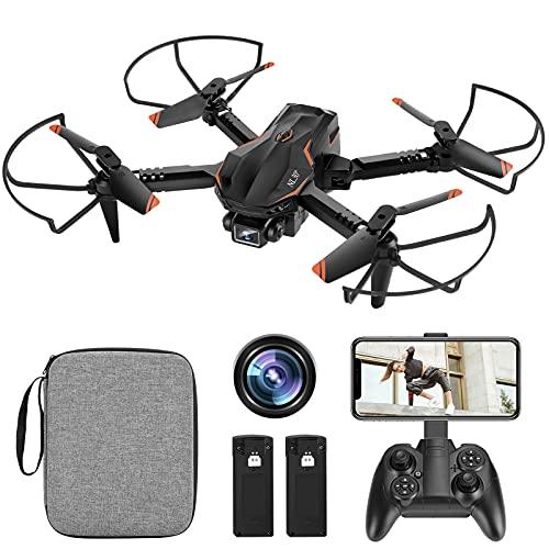 NL30 Mini Drone con Telecamera HD 1080P, Drone Quadricottero, Mantenimento dell'altezza, 3D Flip, Controllo a Gesti, 2 Batterie Ricaricabili, 22 Minuti di Volo per Principianti e Bambini