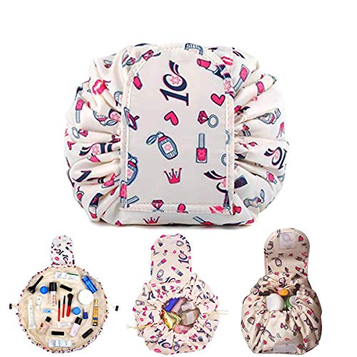 Mode Trousse Cosmétique,Drawstring Makeup Bag Trousse Maquillage Sac...