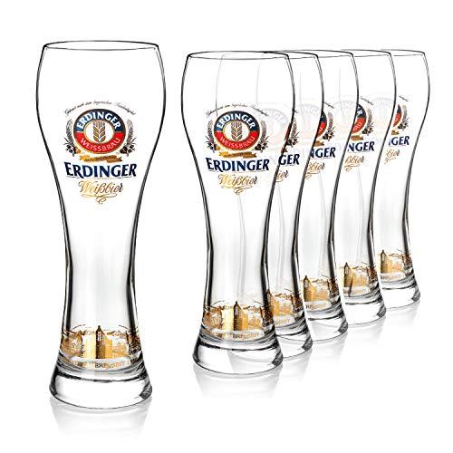 Bicchieri birra Erdinger 0,5l | Set bicchieri birra particolari 6pz. | Bicchieri da birra mezzo litro | Set bicchieri birra | Bicchieri cristallo