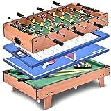 GOPLUS 4 en 1 Table Multi de Jeux - Football, Billard, Tennis de Table et...
