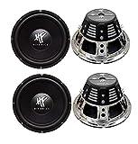 4) HIFONICS HFX12D4 12' 2400W Car Audio DVC Subwoofers Power Bass Subwoofers