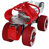 HIGH-QUALITY ULTRA DURABLE ROLLER SKATES - These quad roller skates are man-made using a Mild steel material and zinc plated/Powder Coated that creates a breathable, yet durable skate with a Powerful steel Plate. EASY TO LACE & COMFORTABLE FIT - Thes...