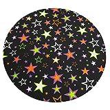 Xuanlin Manta de Tiro cómoda, Manta Suave Redonda de Tela de Estrella de Halloween para Adultos y niños