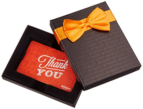 Amazon.com Gift Card in a Black Gift Box (Thank You Icons...