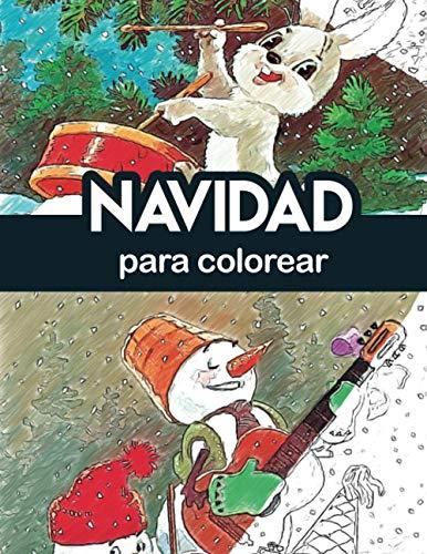 navidad para colorear: teoria del color navidad para colorear