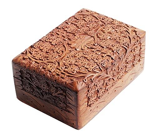 ARTISENIA Handmade Rosewood Keepsake Box Jewellery Chest...