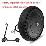 Goolsky Motor and Explosion Proof Honeycomb Structure Anti-Skid Wheel Tire Set for Xiaomi M365 Electric Scooter