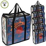 Evelots LP Vinyl Record Case-Storage-Carry 216 Album Total-No Dust/Scratch-Set/6