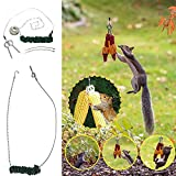 Squirrel Feeder,Spring Feeder for Squirrel Bungee Jumping, Squirrel Feeder for Outside, Cob Holder...
