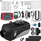 Wayska Diesel Heater 12V, 15L Tank, Diesel Air Heater 5KW, Muffler, Diesel Parking Heater with LCD Thermostat Monitor & Remote Control for Trucks, Trailer, Boat and Motor-home