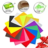"Glitter Heat Transfer Vinyl Iron on - 12 HTV Sheets 12x10"" for..."