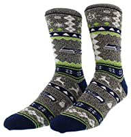 55% Cotton/42% Polyester/2% Rubber/1% Spandez Officially Licensed Sports socks only from For Bare Feet Medium 5-10, Large 10-13