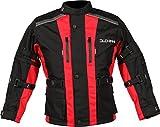 DUCHINNI Unisex-Child JAGO Youth Motorcycle Jacket (Red, Medium)