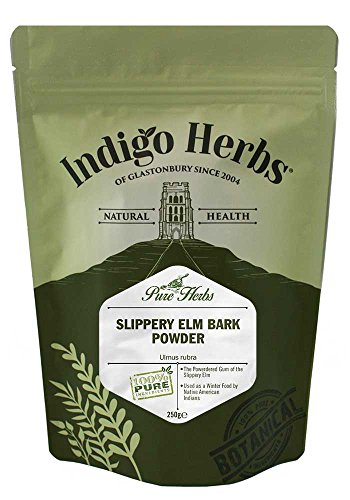 Indigo Herbs Ulmenrinde Pulver 250g   Slippery Elm Bark Powder   Ulmus rubra   Vegan   Rein & GMO Frei