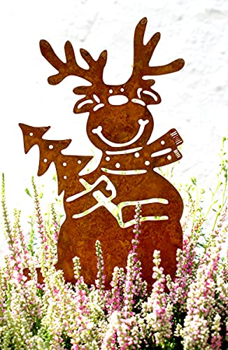 Lilienburg Weihnachtsdeko Roststecker Rost Metall wetterfest (Elch)