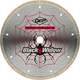 QEP 6-7008BW 7-Inch Black Widow Micro-Segmented Rim Diamond Blade, 5/8-Inch Arbor, Wet Cutting, 8730 Maximum RPM