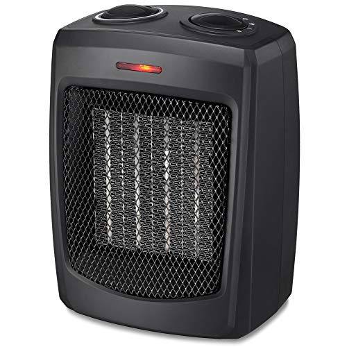 HOME_CHOICE Personal Ceramic Space Heater Electric Heater with Adjustable Thermostat Small Portable Heater Fan for Office Desktop Home Bedroom,750W/1500W