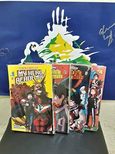 Manga my hero academia - boku no hero volumes 1, 2, 3 e 4