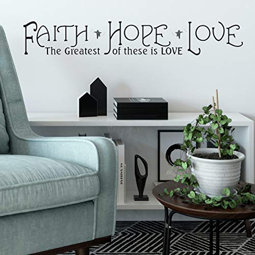 RoomMates Faith, Hope & Love Quote Peel and Stick Wall Decals