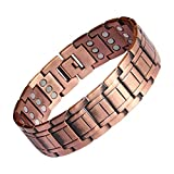 Wide Copper Bracelet for Supermen Magnetic Therapy for Pain Relief for Arthritis and Carpal Tunnel Migraines Tennis Elbow