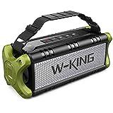 Bluetooth Speaker, W-KING 50W(70W Peak) V5.0 IPX6 Waterproof Wireless Outdoor Portable, TF Card Enabled, TWS, DSP, NFC, Powerful Rich Bass Loud Stereo Built-in 8000mAh Battery Power Bank