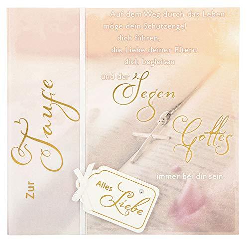 Depesche 4907.053 Glückwunschkarte Emotions in edlem Design, Taufe, Mehrfarbig