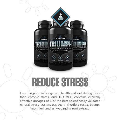 Legion Triumph Daily Men Multivitamin Supplement - Vitamins and Minerals for Athletes Helps w/Mood, Stress, Immune System, Heart Health, Energy, Sports & Bodybuilding Workouts. 30 Svgs.… 5