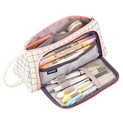 Toyess, astuccio portamatite, portatile, impermeabile, in tela, con manico, per studenti, ufficio, universit, scuole medie, liceo, colore: nero