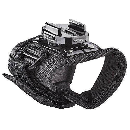 Mantona, guanto a rilascio rapido con supporto per GoPro a 360 gradi, colore nero