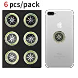 EMF Protection Sticker for Smartphone - Anti-Radiation Shield for Phone, Laptop, Tablet, Microwave, Kindle- Blocks Radiation Neutralizer- Fashionable Bumper Sticker- Healthier Environment (Silver)
