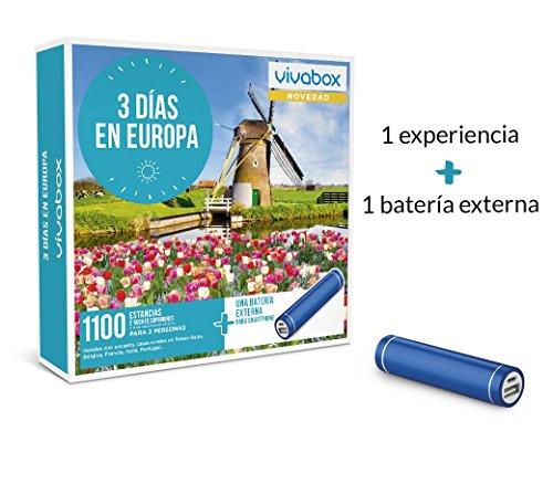 VIVABOX Caja Regalo -3 DIAS EN Europa- 1.100 estancias.Incluye: una...