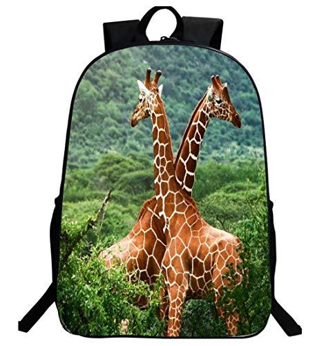 LITI Zaino della Scuola Borsa per Laptop Casual Leggero Viaggio Animale Zaino per Ragazze 17.5 * 5.5...